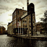 Tourist Office Norrkoping In Old Effect Art Print