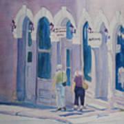 Tourists In Central City Art Print