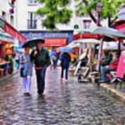 Tourists - Paris - Place Du Tertre Art Print