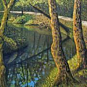 Tow Path Art Print by Don Perino