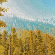 Towards Abshaar Northern Pakistan Near Nathiagali Art Print