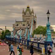 Towards Tower Bridge, London  Art Print