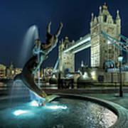 Tower Bridge In London Art Print by Vulture Labs