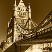 Tower Bridge In Sepia Art Print
