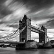 Tower Bridge, River Thames, London, England, Uk Art Print