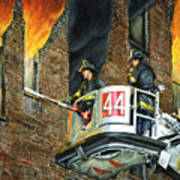 Tower Ladder 44-south Bronx Art Print