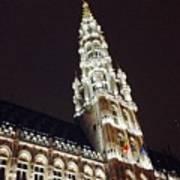 Brussels Tower Light Art Print