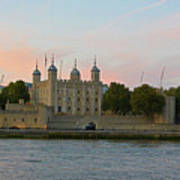 Tower Of London On The Thames Art Print