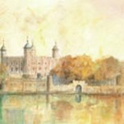 Tower Of London Watercolor Art Print