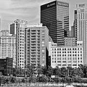 Tower Over Pittsburgh In Black And White Art Print