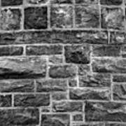 Tower Wall Black And White Art Print