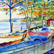 Town Fishery Art Print