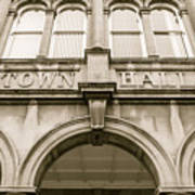 Town Hall, Arch And Windows Art Print