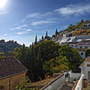 Town In A Valley, Sacromonte, Granada Art Print