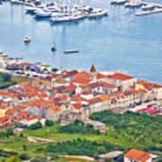 Town Of Seget Aerial View Art Print