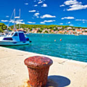 Town Of Tisno Harbor And Waterfront Art Print