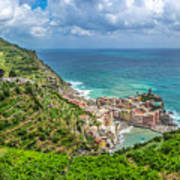 Town Of Vernazza, Cinque Terre, Italy Art Print