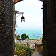 Town View In Italy Art Print