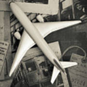 Toy Airplane Vintage Travel Art Print