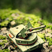 Toy Tank In Forest Art Print
