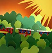 Toy Train Art Print