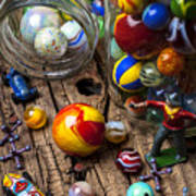Toys And Marbles Art Print by Garry Gay
