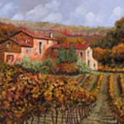 tra le vigne a Montalcino Art Print