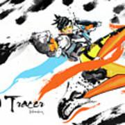 Tracer Overwatch Art Print