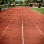 Track And Field Of Depth One Art Print