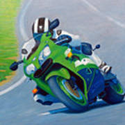 Track Day - Kawasaki Zx9 Art Print