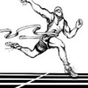 Track Sprinter Art Print