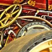 Traction Engine Steering Mechanism Art Print