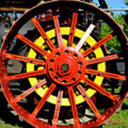 Tractor Big Wheel Art Print