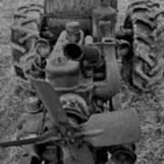 Tractor Bw Art Print