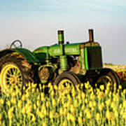 Tractor In A Field Art Print