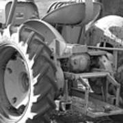 Tractor In Black And White  Art Print