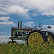 Tractor In Field Art Print