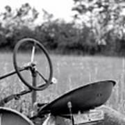 Tractor In Long Grass Art Print