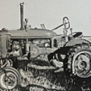 Tractor Art Print by Mary Capriole