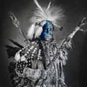 traditional dancer Blue Art Print
