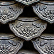Traditional Korean Roof Tiiles Art Print