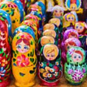 Traditional Russian Matrushka Nesting Puzzle Dolls Art Print