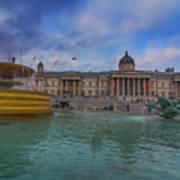 Trafalgar Square Fountain London 12 Art Print