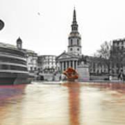 Trafalgar Square Fountain London 3b Art Print