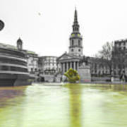 Trafalgar Square Fountain London 3c Art Print