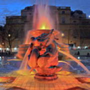Trafalgar Square Fountain Art Print