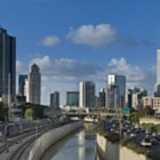 Traffic Flowing In And Out Of Downtown Tel Aviv Art Print