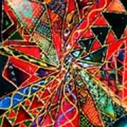 Traffic Jam In Triangle Land Art Print