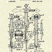 Traffic Signal 1922 Patent Art Art Print