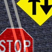 Traffic Signs Art Print